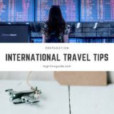 International travel tips: Preparation…